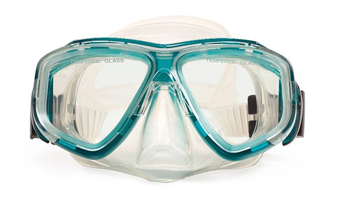 """5.5"""" Newport Green and Clear Pro Mask Swimming Pool Accessory - IMAGE 1"""