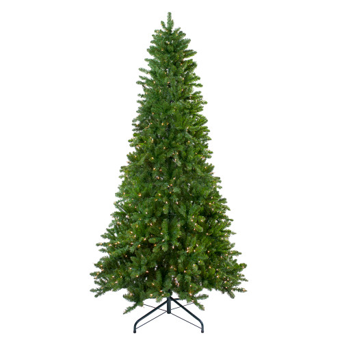 10' Pre-Lit Slim Eastern Pine Artificial Christmas Tree - Clear Lights - IMAGE 1