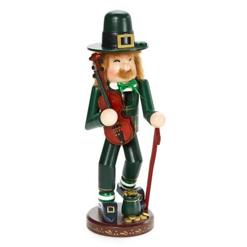 "11"" Zims Heirloom Collectibles St. Patrick's Irish Leprechaun Christmas Nutcracker - IMAGE 1"