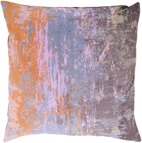 """22"""" Brown and Orange Throw Pillow - Down Filler - IMAGE 1"""