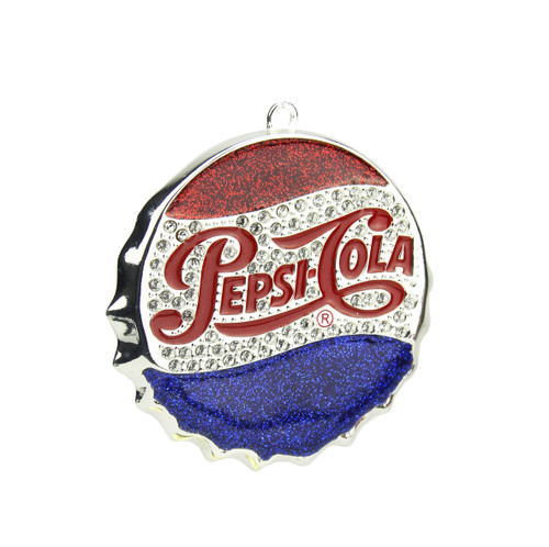 """3"""" Blue and Red """"PEPSI COLA"""" Bottle Cap Logo Christmas Ornament - IMAGE 1"""