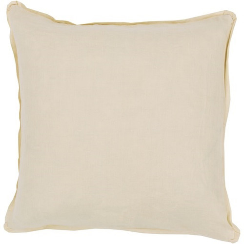 """18"""" Yellow Indoor Square Throw Pillow with Corded Trim - Poly Filled - IMAGE 1"""