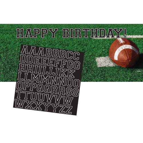 """Pack of 6 Green and Brown Tailgate Rush Giant Birthday Party Banners 60"""" - IMAGE 1"""