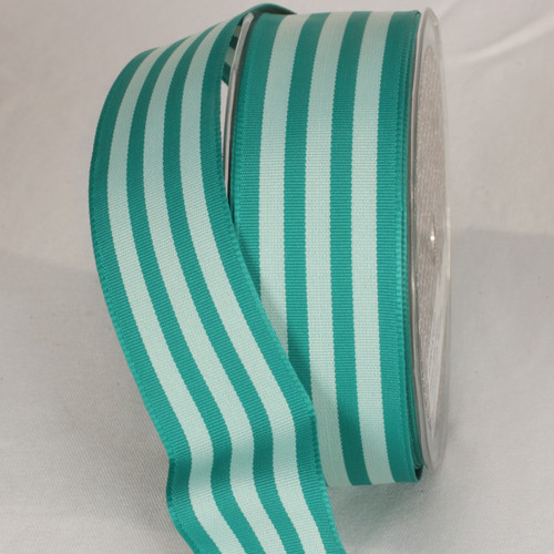 """Green Mint Striped Wired Craft Ribbon 1.5"""" x 27 Yards - IMAGE 1"""