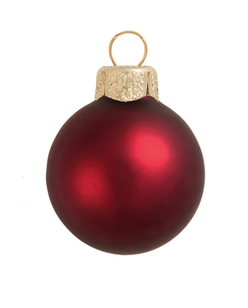 """4ct Henna Red Matte Finish Glass Christmas Ball Ornaments 4.75"""" (120mm) - IMAGE 1"""