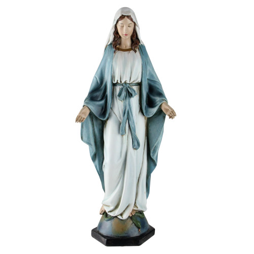 """10.25"""" Joseph's Studio Our Lady of Grace Hand Painted Religious Figure - IMAGE 1"""