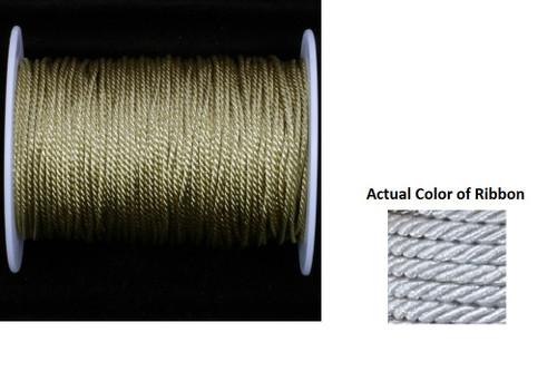 """Silver Metalized Braided Cording Craft Ribbon 0.1"""" x 110 Yards - IMAGE 1"""