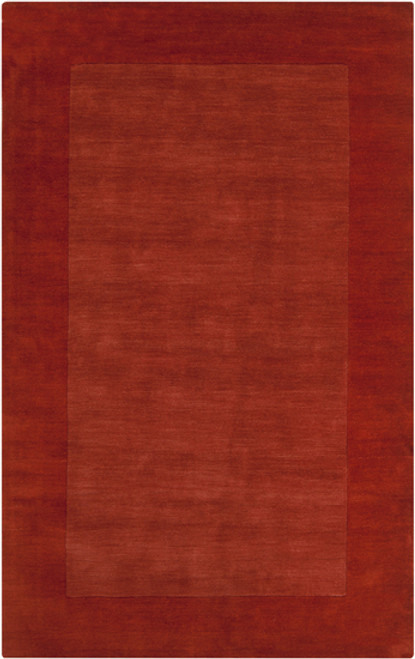 8' x 11' Solid Burnt Orange Hand Loomed Rectangular Wool Area Throw Rug - IMAGE 1