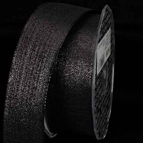 "Metallic Black ""Pioggia"" Wired Craft Ribbons 2.5"" x 27 Yards - IMAGE 1"