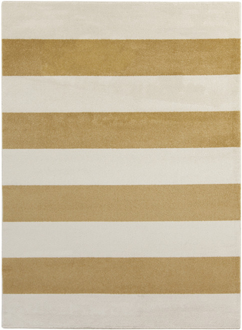 9.25' x 12.5' Brown and Ivory Machine Woven Striped Rectangular Area Throw Rug - IMAGE 1