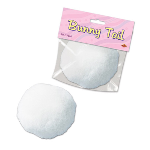 """Pack of 12 White Plush Bunny Tail Easter Costume Accessories 5"""" - IMAGE 1"""