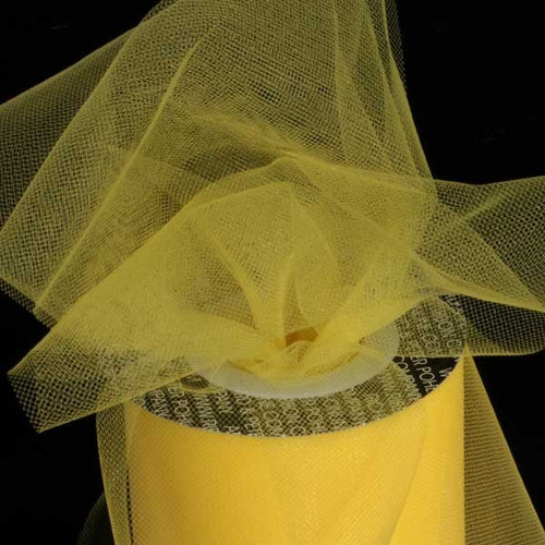 Yellow Contemporary Tulle Craft Ribbon 6 x 275 Yards - IMAGE 1