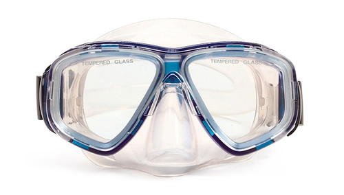 """5.5"""" Newport Blue and Clear Pro Mask Swimming Pool Accessory for Adults - IMAGE 1"""