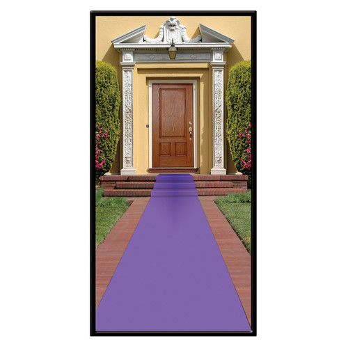 Pack of 6 Purple Medieval Carpet Runner Party Decorations 2' x 15' - IMAGE 1