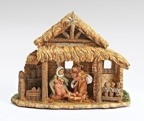 "6.25"" Fontanini Silent Night Musical Holy Family Religious Christmas Nativity Figure - IMAGE 1"