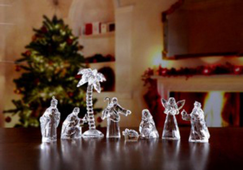 """Club Pack of 32 Clear Decorative Religious Pocket Nativity Set Figurines 5"""" - IMAGE 1"""