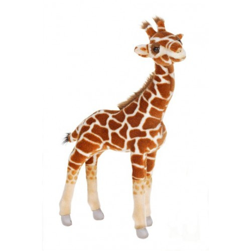 "Set of 3 Brown and White Handcrafted Extra Soft Plush Standing Baby Giraffe Stuffed Animals 19.5"" - IMAGE 1"