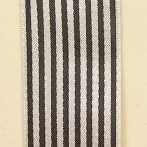 "Black and White Stripe Craft Ribbon 0.5"" x 162 Yards - IMAGE 1"