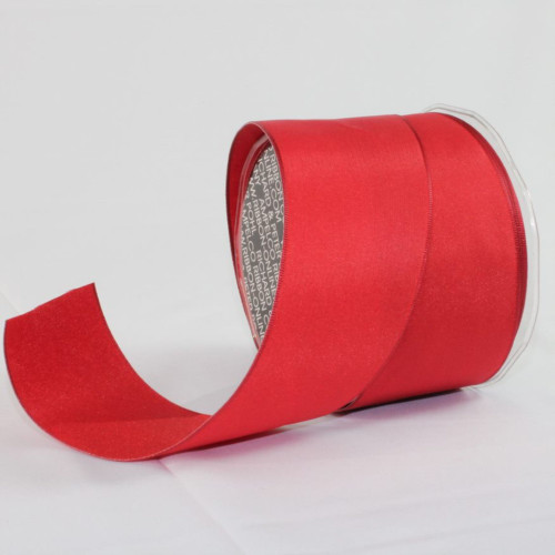 "Scarlet Red Solid Wired Craft Ribbon 2.5"" x 27 Yards - IMAGE 1"