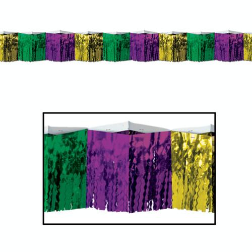 Pack of 6 Purple and Gold Metallic Diamond-cut Fringe Hanging Decors 12' - IMAGE 1