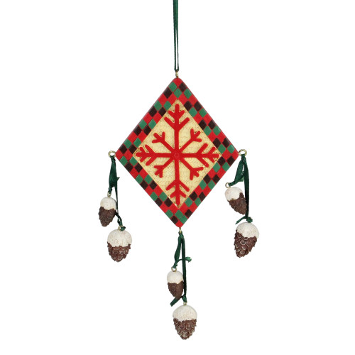 "6"" Southwestern Snowflake Diamond Christmas Ornament - IMAGE 1"