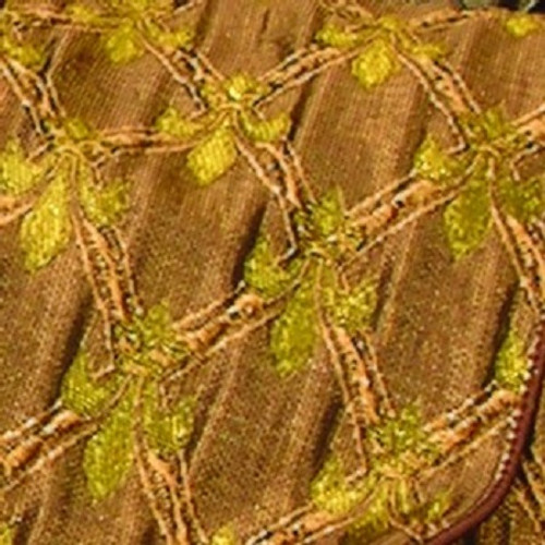 """Brown and Gold Fleur De Lis Wired Craft Ribbon 6"""" x 20 Yards - IMAGE 1"""