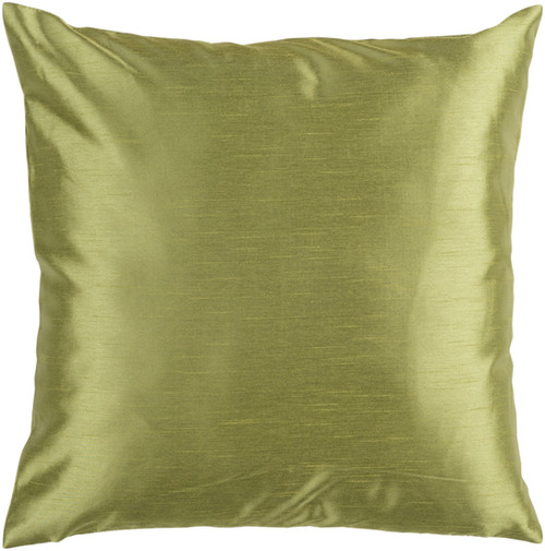 """22"""" Green Solid Contemporary Square Throw Pillow Cover - IMAGE 1"""