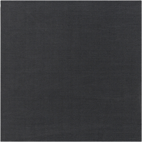 9.75' x 9.75' Rogue Love Dark Gray Hand Loomed Wool Square Area Throw Rug - IMAGE 1