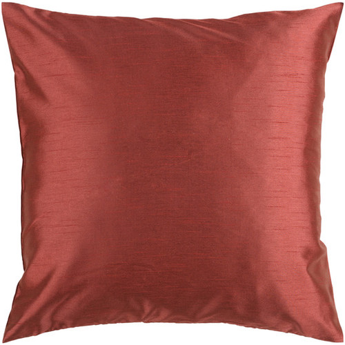 """22"""" Rust Red Solid Contemporary Square Throw Pillow - IMAGE 1"""