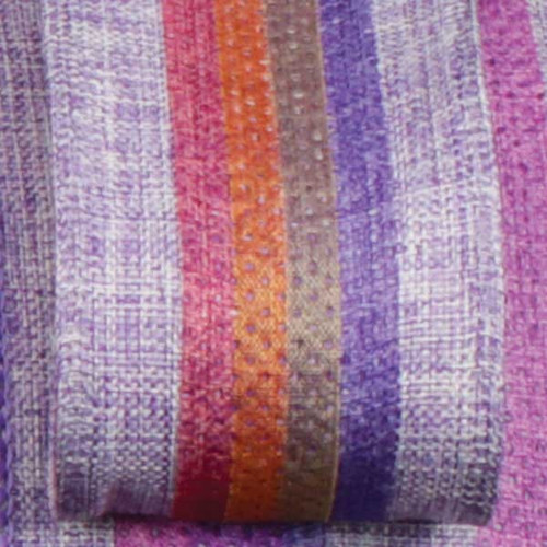 """Purple and Orange Wired Craft Ribbon with Stripes 1.5"""" x 40 Yards - IMAGE 1"""