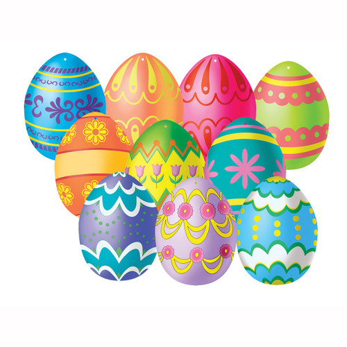 """Club Pack of 240 Multi-Colored Mini Easter Egg Cutout Decorations 4.5"""" - IMAGE 1"""