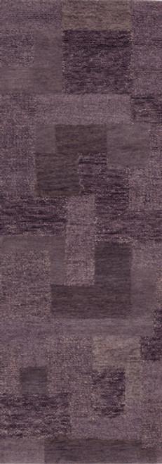 2.5' x 8' Slanke Purple Grape & Lavender Hand Tufted Wool Area Throw Rug Runner - IMAGE 1
