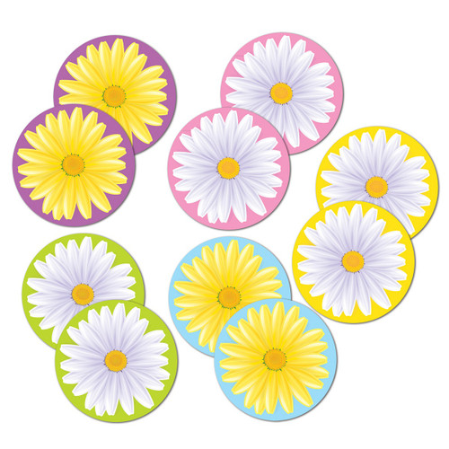 """Club Pack of 240 Bright Multi-Colored Mini Daisy Double-Sided Party Decoration Cutouts 4"""" - IMAGE 1"""