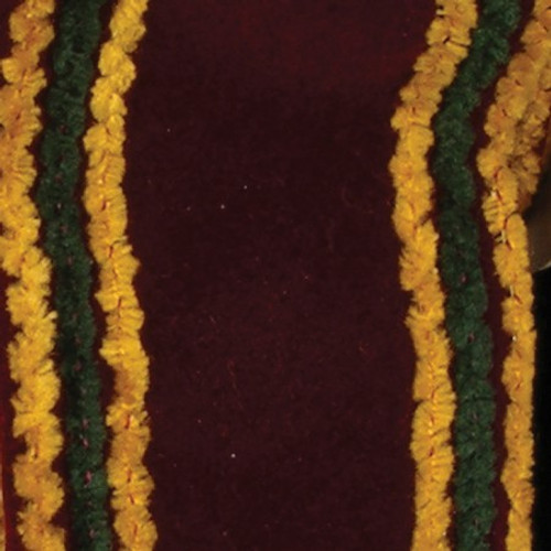"""Burgundy Red and Yellow Wired Craft Ribbon 2.5"""" x 20 Yards - IMAGE 1"""