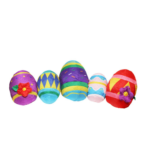 10' Inflatable Lighted Easter Eggs Outdoor Decoration - IMAGE 1