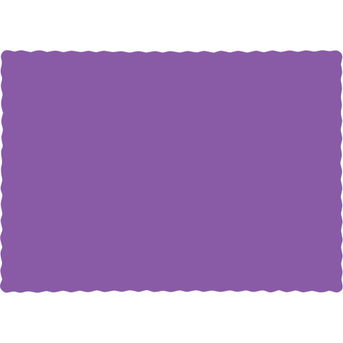"Club Pack of 600 Solid Amethyst Purple Disposable Table Placemats 13.5"" - IMAGE 1"