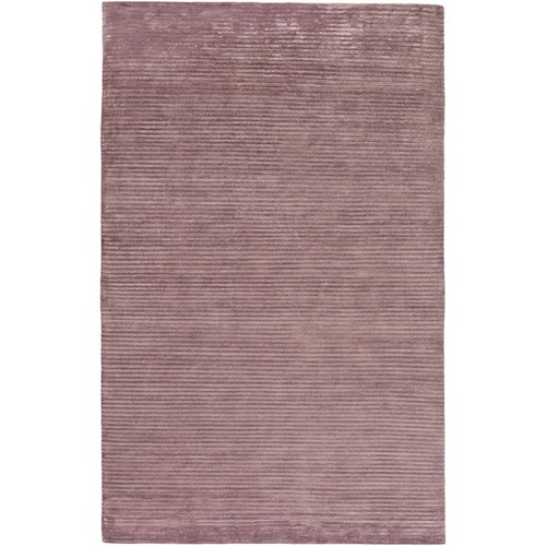 5' x 8' Solitary Sand Burgundy Purple Hand Knotted Rectangular Area Throw Rug - IMAGE 1