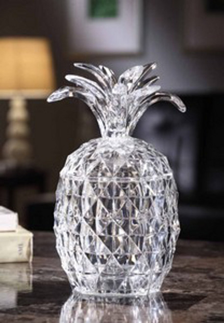 """Set of 2 Icy Clear LED Lighted Decorative Pineapple Candy Jars 9"""" - IMAGE 1"""