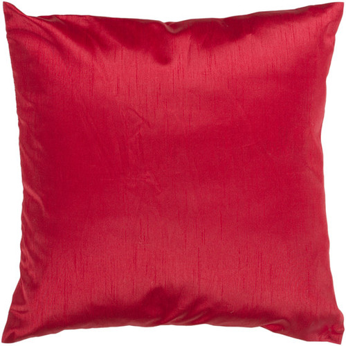 """18"""" Venetian Red Solid Square Contemporary Throw Pillow - Down Filler - IMAGE 1"""