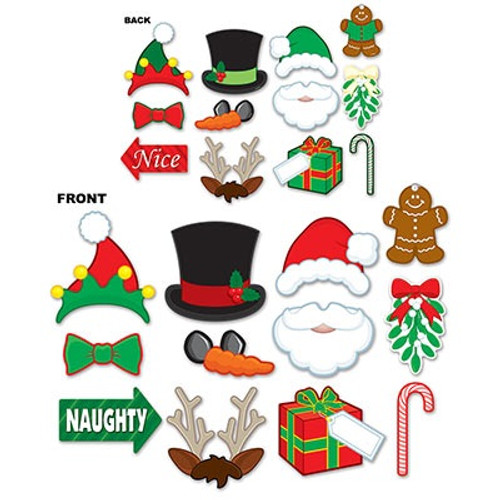"""Club Pack of 144 Red and Green Winter Wonderland Christmas Photo Sign Party Decors 9.75"""" - IMAGE 1"""