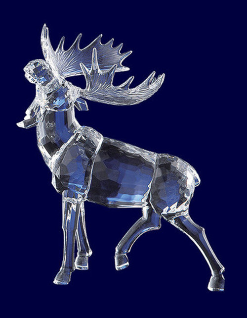 """Pack of 4 Clear Icy Crystal Decorative Christmas Moose with Head Up Figurines 10.6"""" - IMAGE 1"""