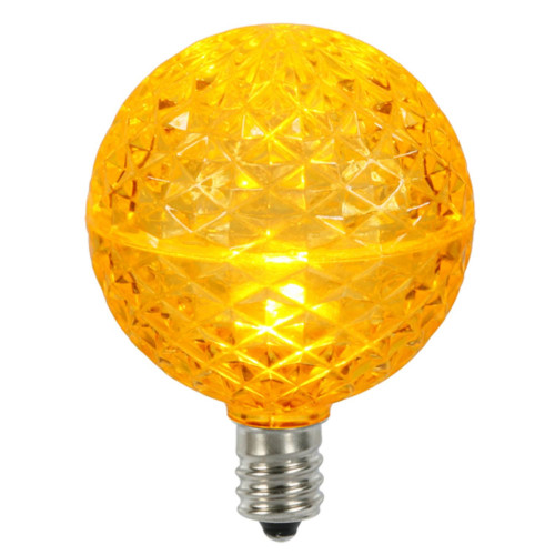 25 Yellow and Amber LED G50 Globe Replacement Christmas Lights - IMAGE 1