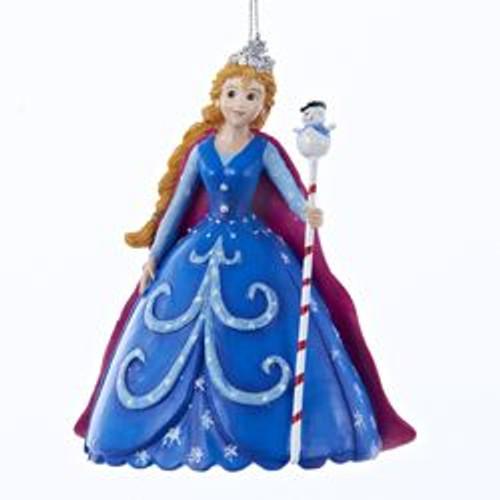 "4.75"" Blue and Red Garden Snow Princess Christmas Ornament - IMAGE 1"