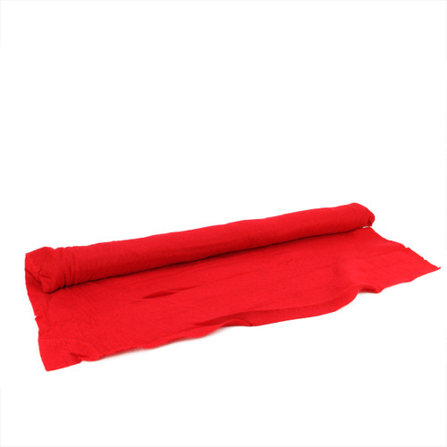 "96"" x 36"" Red Artificial Powder Snow Christmas Drape Cover - IMAGE 1"