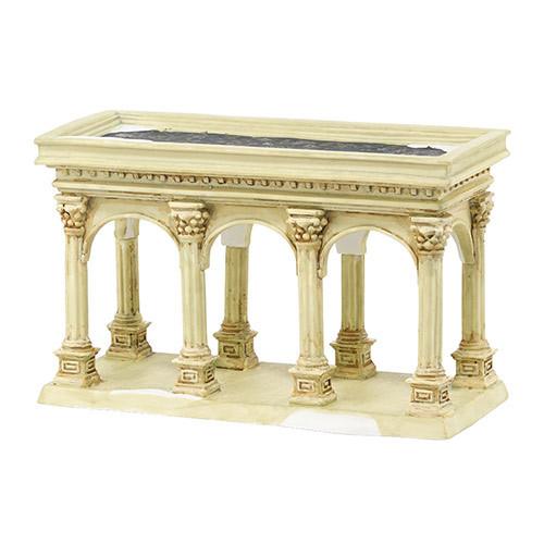 "7"" Ivory and White Tudor Gardens Pavilion Tabletop Decor - IMAGE 1"