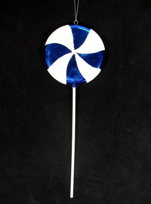 "40"" Blueberry Swirl Lollipop Christmas Ornament - IMAGE 1"