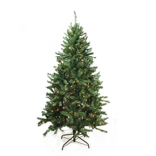 7.5' Pre-Lit Slim Traditional Mixed Pine Artificial Christmas Tree - Clear Lights - IMAGE 1