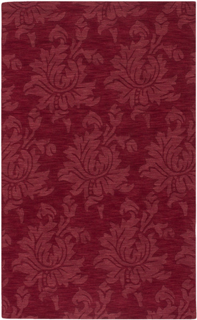 8' x 11' Floral Rio Red Hand Loomed Rectangular Wool Area Throw Rug - IMAGE 1