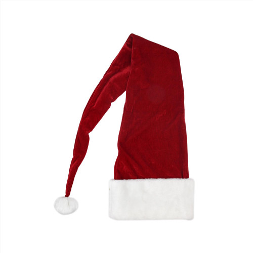 Red and White Santa Unisex Adult Christmas Hat Costume Accessory - IMAGE 1