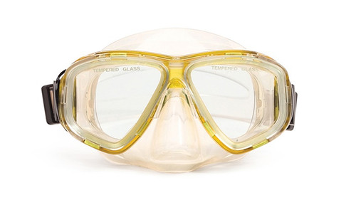 """5.5"""" Yellow and Clear Pro Mask Swimming Pool Accessory - IMAGE 1"""